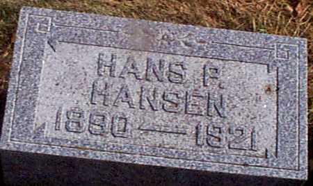 HANSEN, HANS P - Shelby County, Iowa   HANS P HANSEN