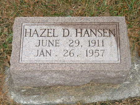 HANSEN, HAZEL D - Shelby County, Iowa | HAZEL D HANSEN