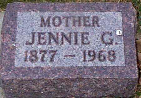 HANSEN, JENNIE G - Shelby County, Iowa | JENNIE G HANSEN