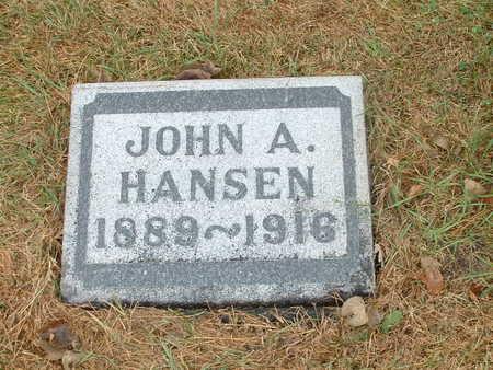 HANSEN, JOHN A - Shelby County, Iowa   JOHN A HANSEN