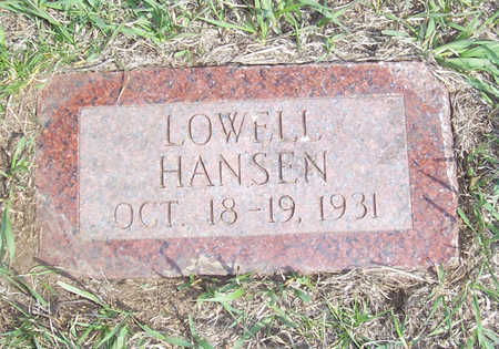 HANSEN, LOWELL - Shelby County, Iowa | LOWELL HANSEN