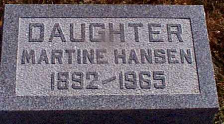 HANSEN, MARTINE - Shelby County, Iowa   MARTINE HANSEN