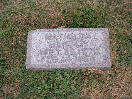 HANSEN, MATHILDA - Shelby County, Iowa   MATHILDA HANSEN