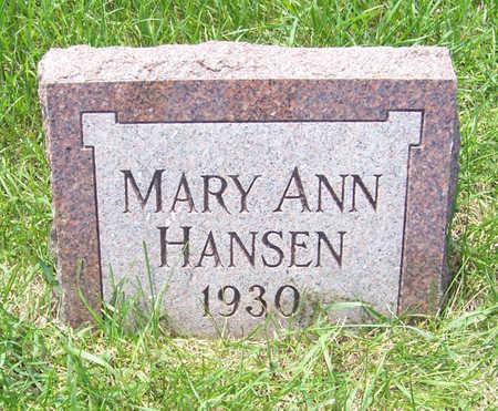 HANSEN, MARY ANN - Shelby County, Iowa   MARY ANN HANSEN