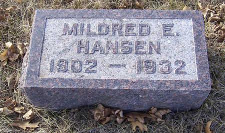 HANSEN, MILDRED E. - Shelby County, Iowa | MILDRED E. HANSEN