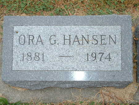 HANSEN, ORA G - Shelby County, Iowa | ORA G HANSEN