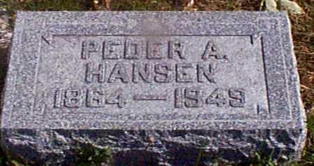 HANSEN, PEDER A - Shelby County, Iowa   PEDER A HANSEN