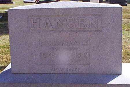 HANSEN MITLEIN HANSEN, KAREN - Shelby County, Iowa | KAREN HANSEN MITLEIN HANSEN