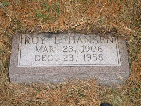 HANSEN, ROY E - Shelby County, Iowa   ROY E HANSEN