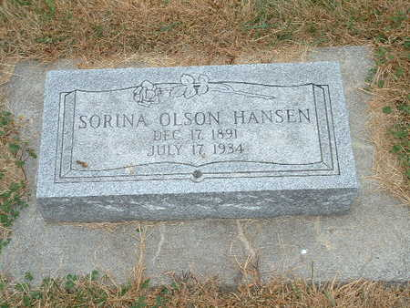 HANSEN, SORINA OLSON - Shelby County, Iowa | SORINA OLSON HANSEN