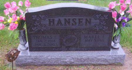 HANSEN, THOMAS - Shelby County, Iowa   THOMAS HANSEN