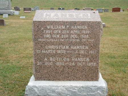 HANSEN, WILLIAM P - Shelby County, Iowa | WILLIAM P HANSEN