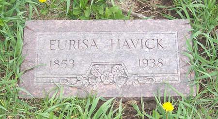 HAVICK, EURISA A. - Shelby County, Iowa   EURISA A. HAVICK