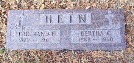 HEIN, BERTHA C. - Shelby County, Iowa | BERTHA C. HEIN