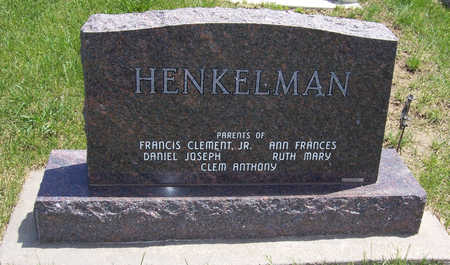HENKELMAN, FRANCIS C. (REVERSE SIDE) - Shelby County, Iowa | FRANCIS C. (REVERSE SIDE) HENKELMAN