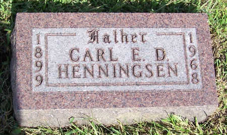 HENNINGSEN, CARL E. D. (FATHER) - Shelby County, Iowa | CARL E. D. (FATHER) HENNINGSEN