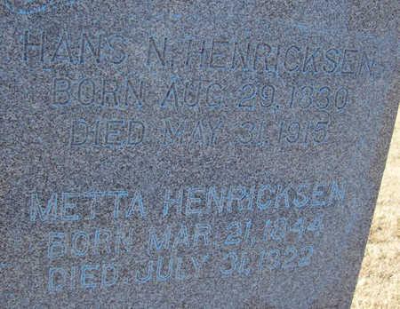 HENRICKSEN, HANS N. (CLOSE-UP) - Shelby County, Iowa | HANS N. (CLOSE-UP) HENRICKSEN