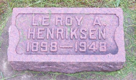 HENRIKSEN, LE ROY A. - Shelby County, Iowa | LE ROY A. HENRIKSEN