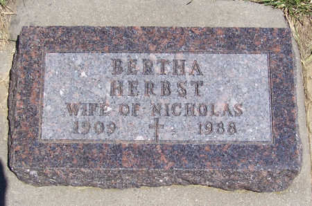 HERBST, BERTHA - Shelby County, Iowa | BERTHA HERBST