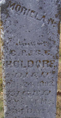 HOLDORF, MORIELA N. (CLOSE-UP) - Shelby County, Iowa | MORIELA N. (CLOSE-UP) HOLDORF