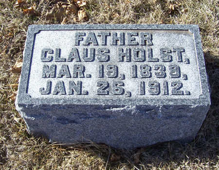 HOLST, CLAUS (FATHER) - Shelby County, Iowa   CLAUS (FATHER) HOLST