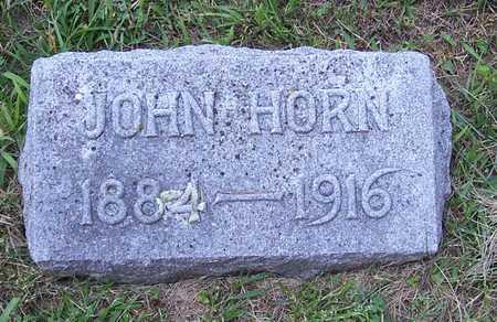 HORN, JOHN - Shelby County, Iowa   JOHN HORN