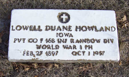 HOWLAND, LOWELL DUANE (MILITARY) - Shelby County, Iowa | LOWELL DUANE (MILITARY) HOWLAND