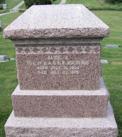 HULSEBUS, ALICE J. - Shelby County, Iowa   ALICE J. HULSEBUS