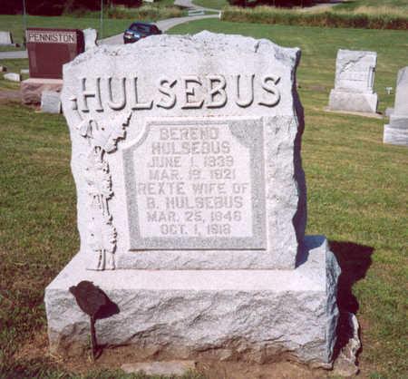 HULSEBUS, BEREND - Shelby County, Iowa   BEREND HULSEBUS
