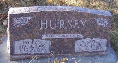 MYERS HURSEY, MARGARET ARVILLA - Shelby County, Iowa | MARGARET ARVILLA MYERS HURSEY