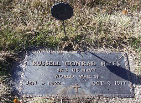 ICKES, RUSSELL CONRAD (MILITARY) - Shelby County, Iowa   RUSSELL CONRAD (MILITARY) ICKES