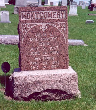 IRWIN, JULIA A. (MONTGOMERY) - Shelby County, Iowa | JULIA A. (MONTGOMERY) IRWIN