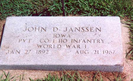 JANSSEN, JOHN D. - Shelby County, Iowa   JOHN D. JANSSEN