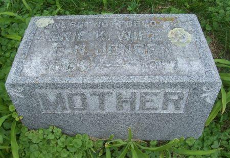 JENSEN, ANNIE K. (WIFE-MOTHER) - Shelby County, Iowa   ANNIE K. (WIFE-MOTHER) JENSEN