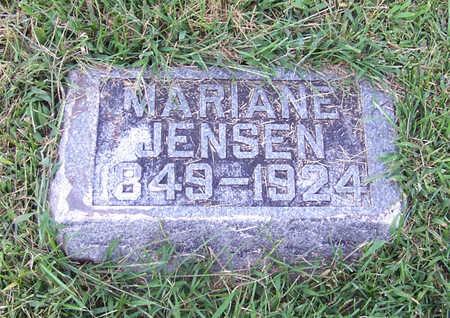 JENSEN, MARIANE - Shelby County, Iowa   MARIANE JENSEN