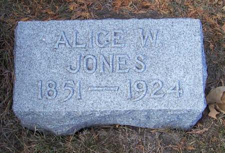 JONES, ALICE W. - Shelby County, Iowa | ALICE W. JONES