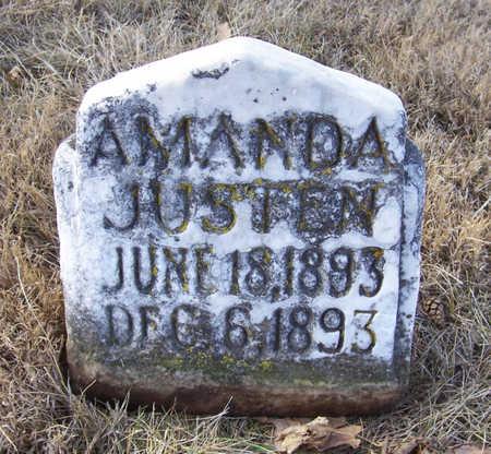 JUSTEN, AMANDA - Shelby County, Iowa   AMANDA JUSTEN