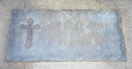 KAUFMANN, PETER - Shelby County, Iowa | PETER KAUFMANN