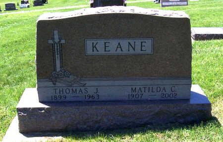 KEANE, MATILDA C. - Shelby County, Iowa | MATILDA C. KEANE