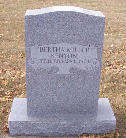 MILLER KENYON, BERTHA - Shelby County, Iowa | BERTHA MILLER KENYON