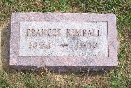 KIMBALL, FRANCES - Shelby County, Iowa | FRANCES KIMBALL