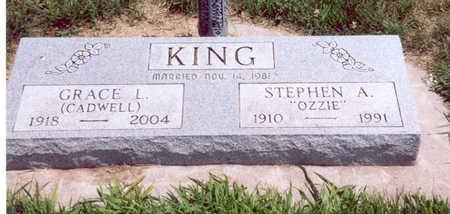 KING, STEPHEN & GRACE - Shelby County, Iowa   STEPHEN & GRACE KING