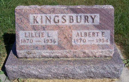 KINGSBURY, ALBERT E. - Shelby County, Iowa | ALBERT E. KINGSBURY