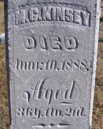 KINSEY, M. C. (CLOSE-UP) - Shelby County, Iowa   M. C. (CLOSE-UP) KINSEY