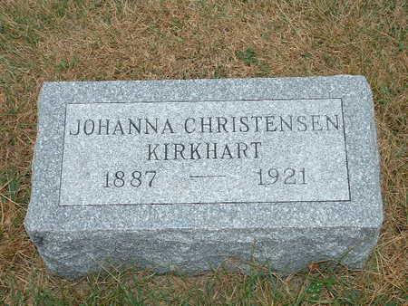 CHRISTENSEN KIRKHART, JOHANNA - Shelby County, Iowa | JOHANNA CHRISTENSEN KIRKHART
