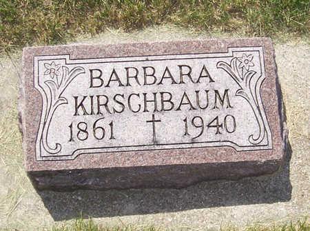 KIRSCHBAUM, BARBARA - Shelby County, Iowa   BARBARA KIRSCHBAUM