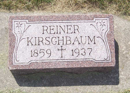 KIRSCHBAUM, REINER - Shelby County, Iowa   REINER KIRSCHBAUM