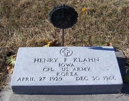KLAHN, HENRY F. (MILITARY) - Shelby County, Iowa   HENRY F. (MILITARY) KLAHN