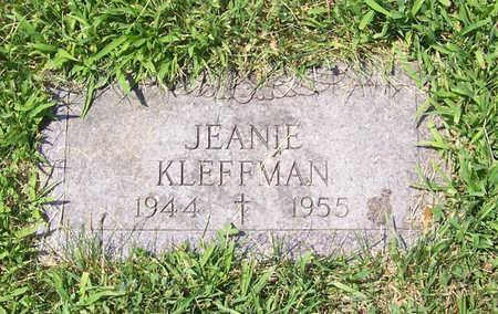 KLEFFMAN, JEANIE - Shelby County, Iowa   JEANIE KLEFFMAN
