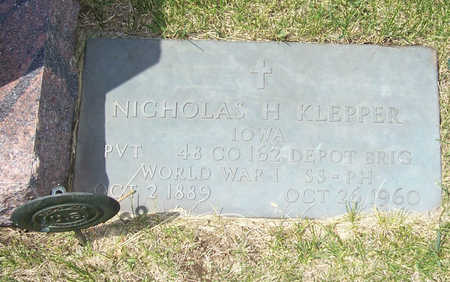 KLEPPER, NICHOLAS H. - Shelby County, Iowa | NICHOLAS H. KLEPPER